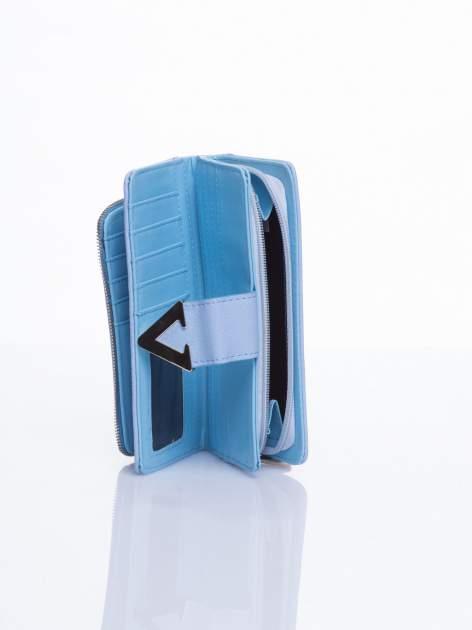Błękitny portfel ze złotym detalem V                                  zdj.                                  4