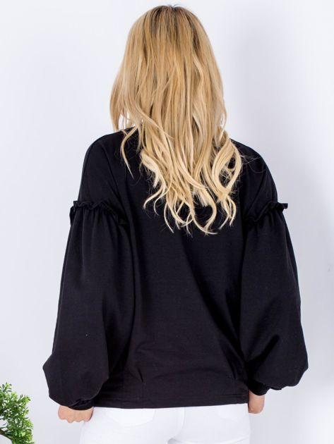 Bluza czarna z etnicznym haftem                              zdj.                              2