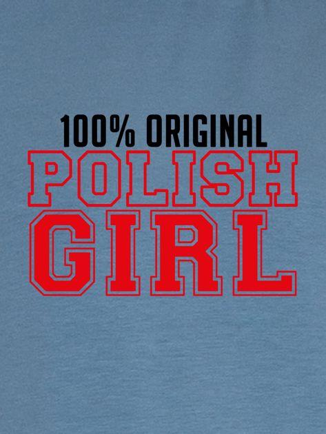 Bluza damska 100% ORIGINAL POLISH GIRL niebieska                              zdj.                              2