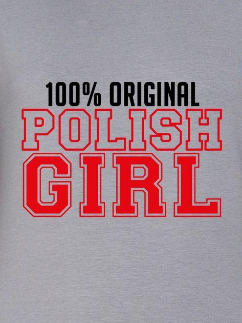 Bluza damska 100% ORIGINAL POLISH GIRL szara                              zdj.                              2