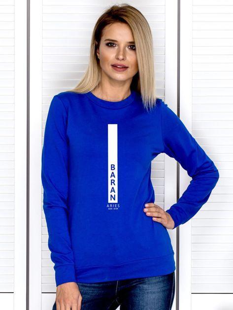 Bluza damska BARAN znak zodiaku kobaltowa                              zdj.                              1