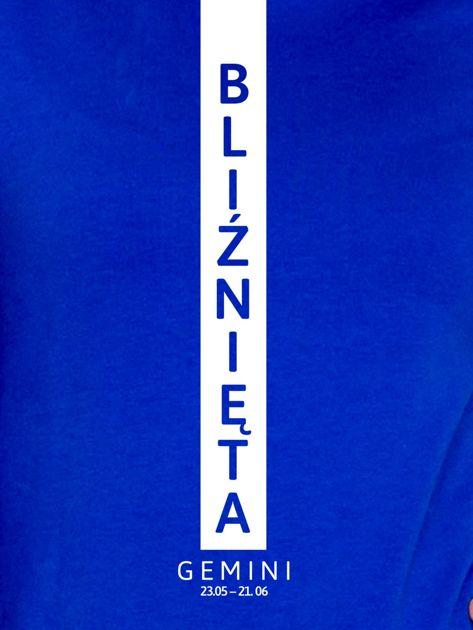 Bluza damska BLIŹNIĘTA znak zodiaku kobaltowa                              zdj.                              2