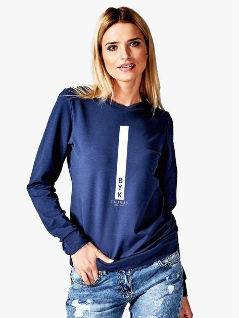 Bluza damska BYK znak zodiaku granatowa                              zdj.                              1