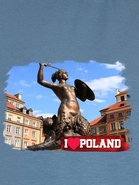 Bluza damska I LOVE POLAND z nadrukiem Warszawy niebieska                                  zdj.                                  2
