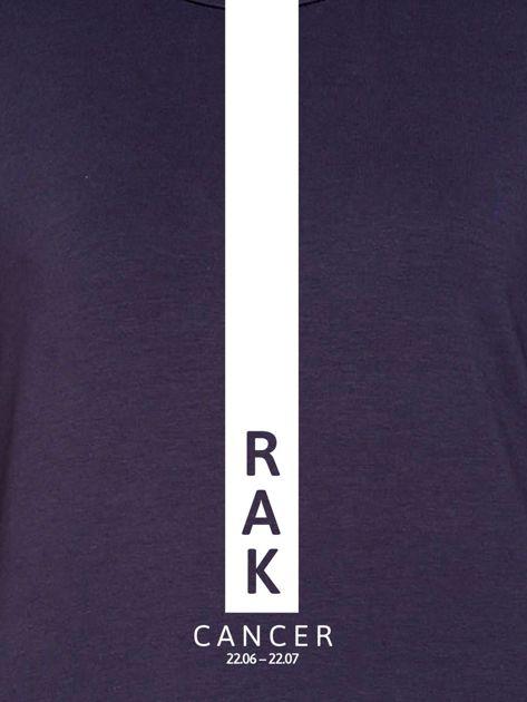 Bluza damska RAK znak zodiaku grafitowa                              zdj.                              2