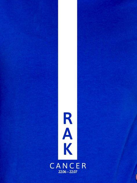 Bluza damska RAK znak zodiaku kobaltowa                                  zdj.                                  2