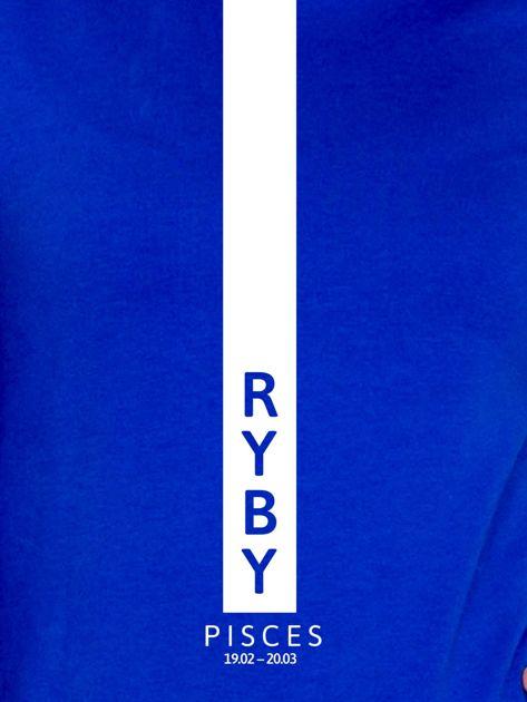 Bluza damska RYBY znak zodiaku kobaltowa                                  zdj.                                  2
