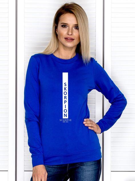 Bluza damska SKORPION znak zodiaku kobaltowa                              zdj.                              1