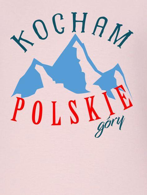 Bluza damska patriotyczna KOCHAM POLSKIE GÓRY różowa                              zdj.                              2