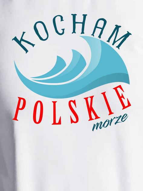 Bluza damska patriotyczna KOCHAM POLSKIE MORZE ecru                              zdj.                              2
