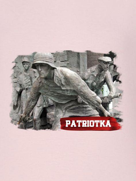 Bluza damska patriotyczna PATRIOTKA z nadrukiem różowa                                  zdj.                                  2
