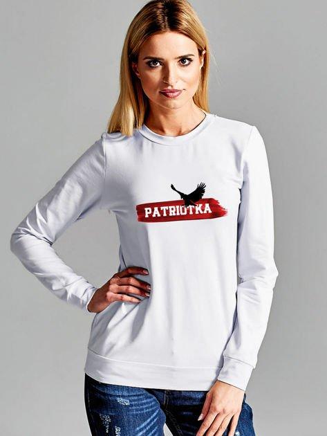 Bluza damska patriotyczna PATRIOTKA z orłem jasnoszara                              zdj.                              1