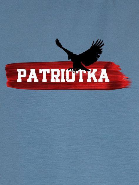 Bluza damska patriotyczna PATRIOTKA z orłem niebieska                              zdj.                              2
