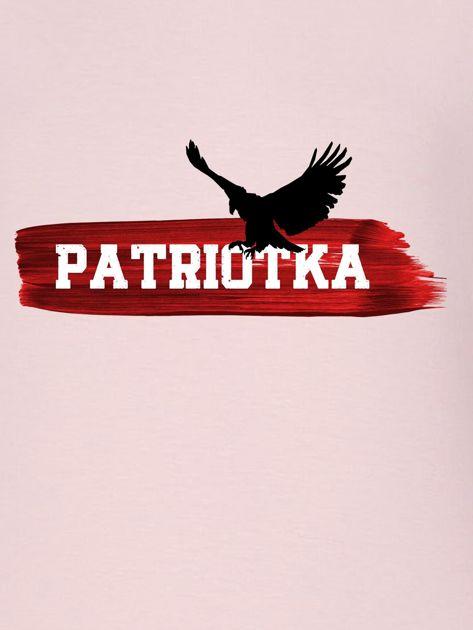 Bluza damska patriotyczna PATRIOTKA z orłem różowa                              zdj.                              2