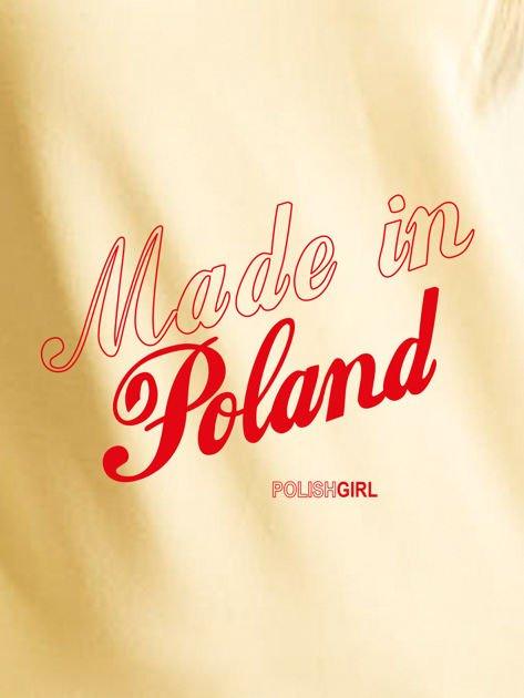 Bluza damska patriotyczna nadruk MADE IN POLAND żółta                              zdj.                              2