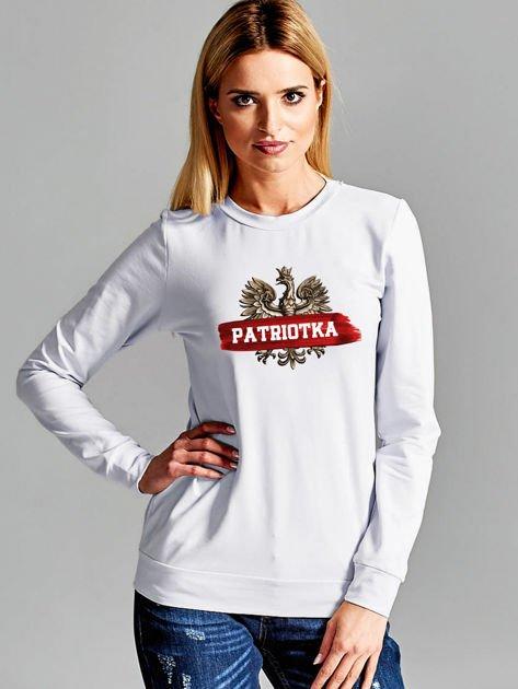 Bluza damska patriotyczna z Orłem Białym PATRIOTKA jasnoszara                              zdj.                              1