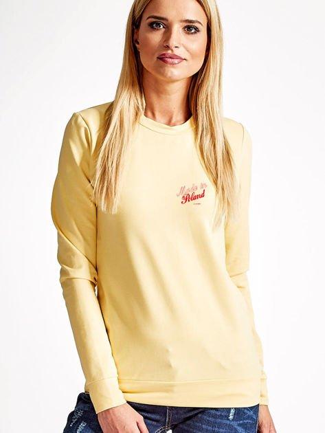 Bluza damska patriotyczna z dyskretnym nadrukiem żółta                                  zdj.                                  1