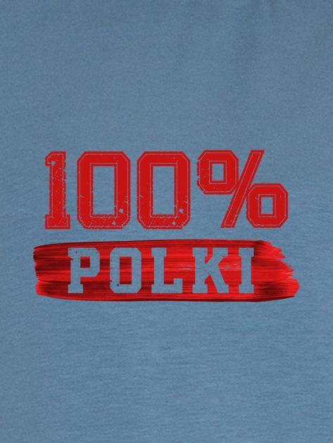 Bluza damska patriotyczna z nadrukiem 100% POLKI niebieska                                  zdj.                                  2