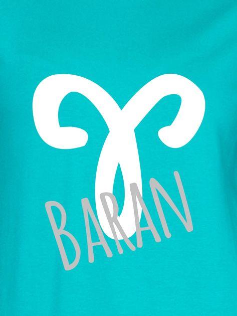 Bluza damska z motywem znaku zodiaku BARAN miętowa                              zdj.                              2