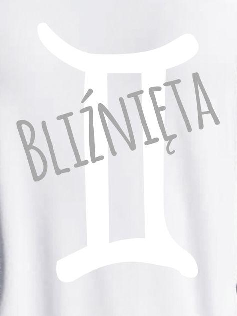 Bluza damska z motywem znaku zodiaku BLIŹNIĘTA jasnoszara                              zdj.                              2