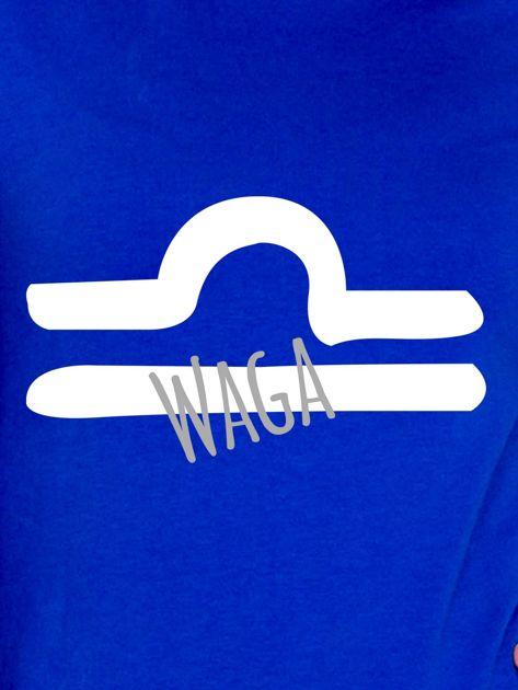 Bluza damska z motywem znaku zodiaku WAGA kobaltowa                              zdj.                              2