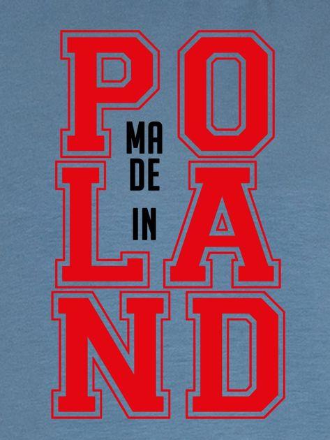 Bluza damska z nadrukiem MADE IN POLAND niebieska                              zdj.                              2
