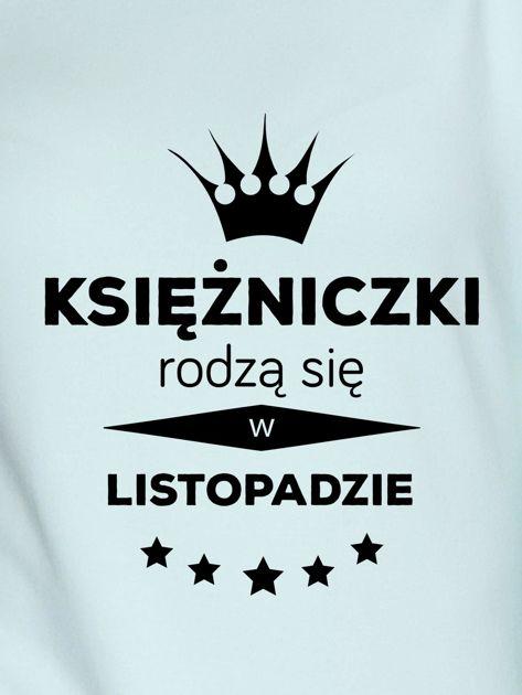 Bluza damska z nadrukiem tekstowym KSIĘŻNICZKA miętowa                              zdj.                              2