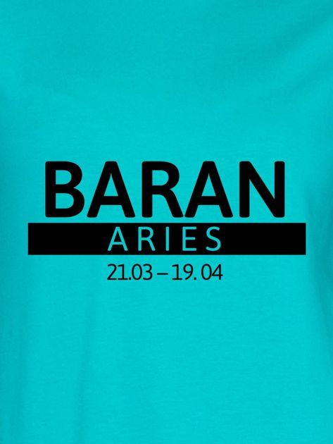 Bluza damska z nadrukiem znaku zodiaku BARAN morska                              zdj.                              2