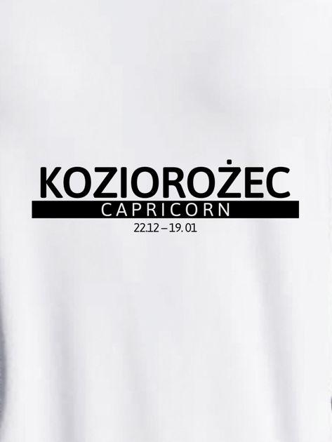 Bluza damska z nadrukiem znaku zodiaku KOZIOROŻEC jasnoszara                              zdj.                              2