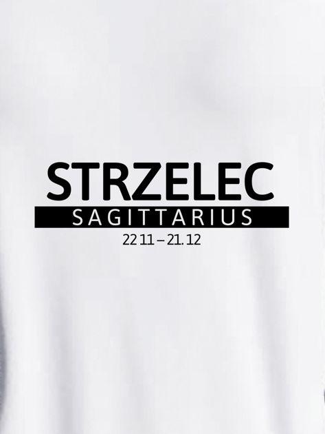 Bluza damska z nadrukiem znaku zodiaku STRZELEC jasnoszara                              zdj.                              2