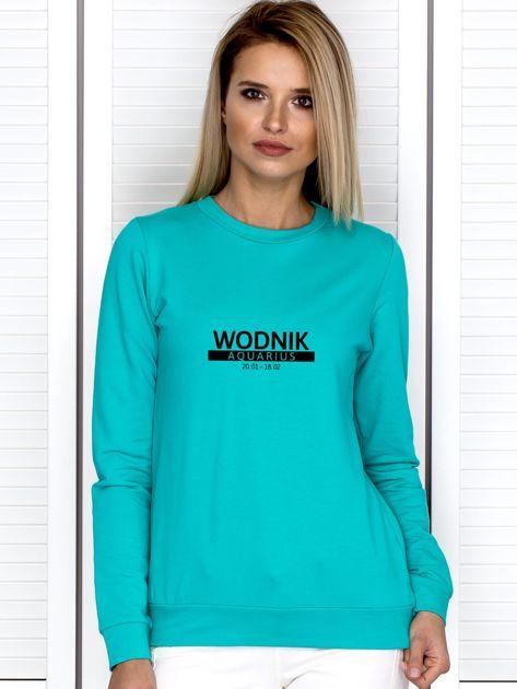 Bluza damska z nadrukiem znaku zodiaku WODNIK morska                              zdj.                              1