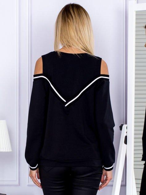 Bluza damska z ściągaczami czarna                              zdj.                              2