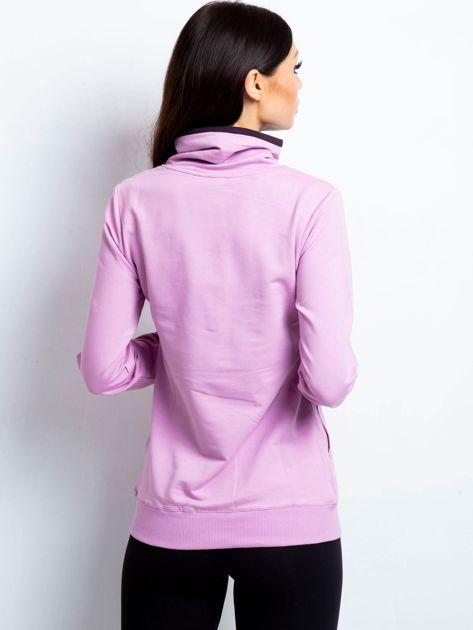 Bluza damska ze stójką i kieszeniami fioletowa                              zdj.                              3