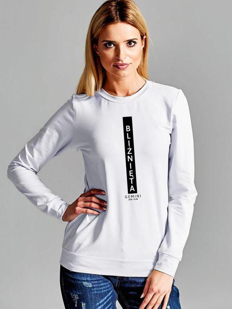 Bluza damska znak zodiaku BLIŹNIĘTA jasnoszara                              zdj.                              1