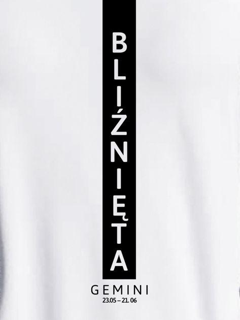Bluza damska znak zodiaku BLIŹNIĘTA jasnoszara                              zdj.                              2