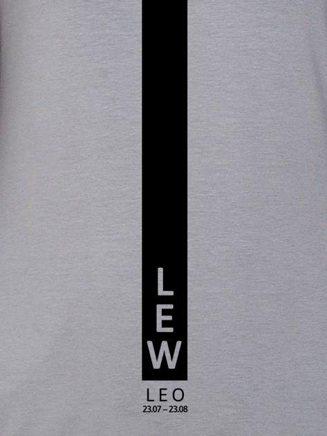 Bluza damska znak zodiaku LEW szara                              zdj.                              2