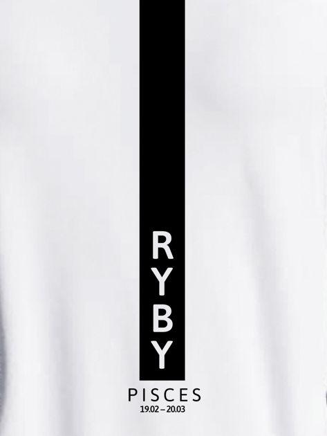 Bluza damska znak zodiaku RYBY jasnoszara                                  zdj.                                  2
