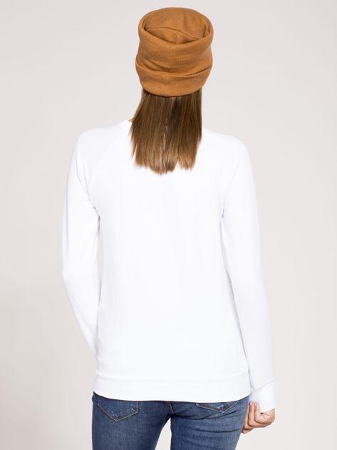 Bluza dresowa biała z nadrukiem                              zdj.                              2