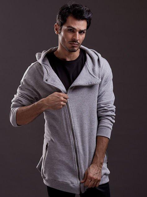 Bluza dresowa oversize jasnoszara