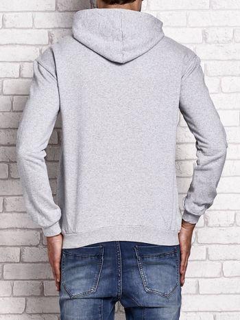 Bluza męska z kapturem i napisem ORIGINAL DENIM szara
