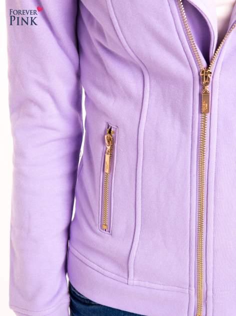 Bluza typu ramoneska w kolorze lila                                  zdj.                                  5