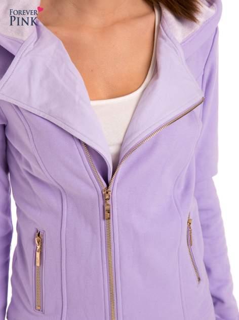 Bluza typu ramoneska w kolorze lila                                  zdj.                                  9