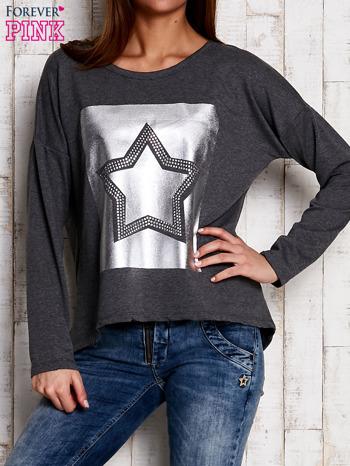 Bluza z motywem gwiazdy szara                                  zdj.                                  1