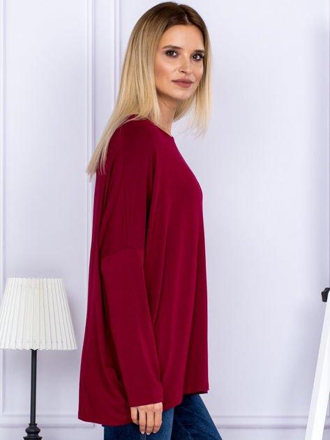 Bluzka damska oversize bordowa                              zdj.                              3
