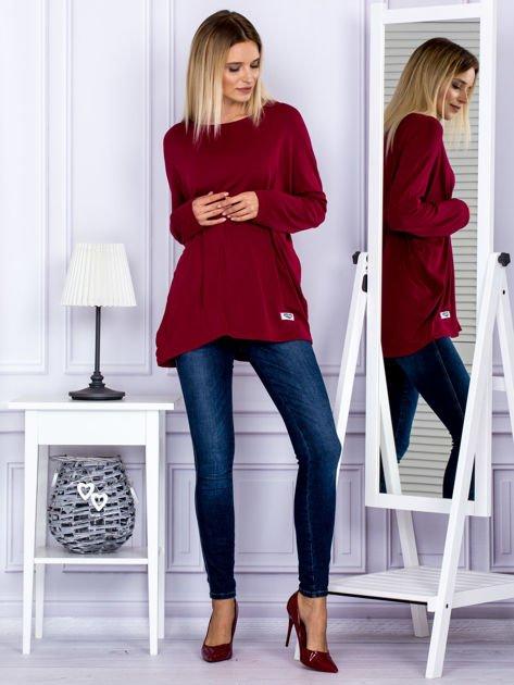 Bluzka damska oversize bordowa                                  zdj.                                  4