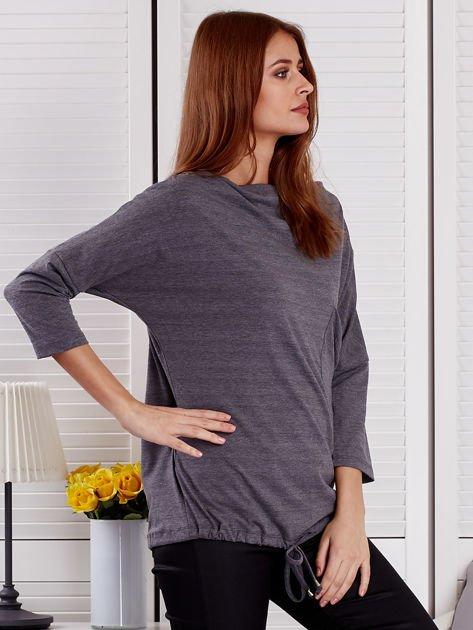 Bluzka damska oversize z kieszenią ciemnoszara                              zdj.                              5