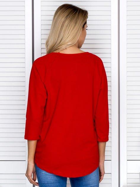 Bluzka damska z napisem czerwona                              zdj.                              2