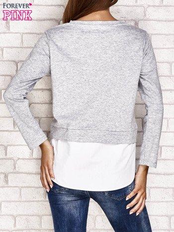 Bluzka z koszulą szara