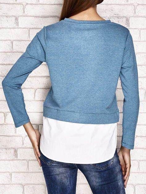 Bluzka z koszulą turkusowa