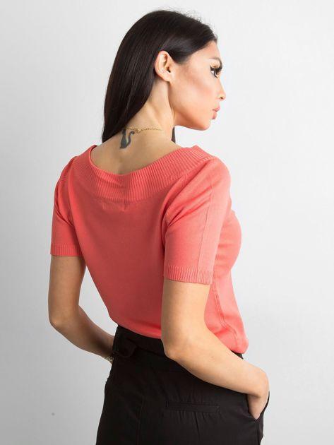 Bluzka z krótkim rękawem ciemnopomarańczowa                              zdj.                              2